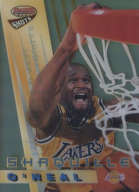 1996 Bowman's Best Shots Refractors Shaquille  O'Neal  #BS3 Basketball Card