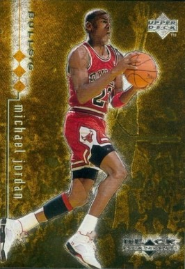 1998 UD Black Diamond Triple Michael Jordan #6 Basketball Card