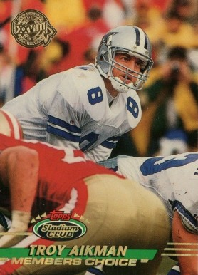 1993 Stadium Club Super Teams Super Bowl Troy Aikman #242 Football Card