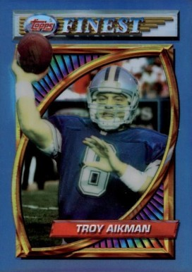 1994 Finest Refractor Troy Aikman #202 Football Card