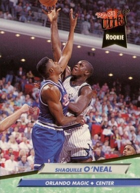 1992 Ultra Shaquille O'Neal #328 Basketball Card
