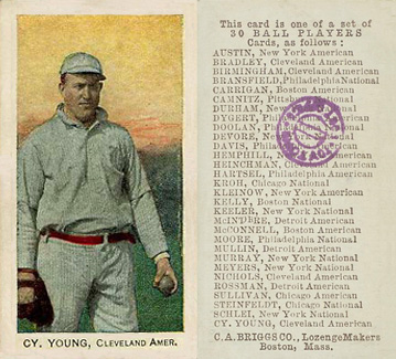 1909 C. A. Briggs (Color) Cy Young #31 Baseball Card