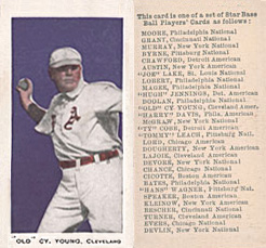 1911 George Close Candy Cy Young #30 Baseball Card