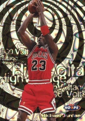 1997 Hoops High Voltage 500 Michael Jordan #14 Basketball Card