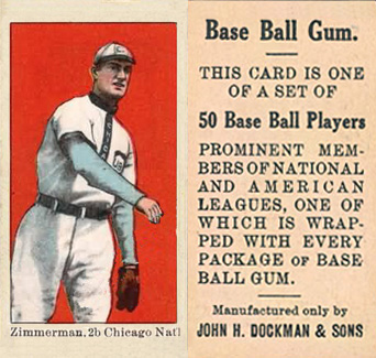 1909 Dockman & Sons Heinie Zimmerman #40 Baseball Card