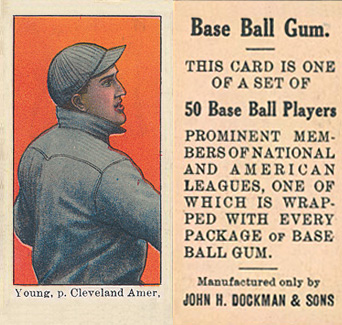 1909 Dockman & Sons Cy Young #39 Baseball Card