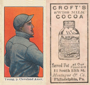 1909 Croft's Cocoa Young, p. Cleveland Amer. #49 Baseball Card