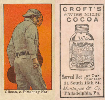 1909 Croft's Cocoa George Gibson #23 Baseball Card