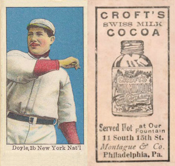 1909 Croft's Cocoa Larry Doyle #21 Baseball Card