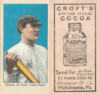 1909 Croft's Cocoa Larry Doyle #20 Baseball Card