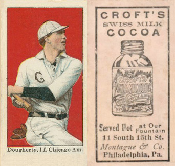 1909 Croft's Cocoa Patsy Dougherty #19 Baseball Card