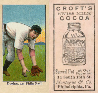 1909 Croft's Cocoa Mickey Doolan #18 Baseball Card