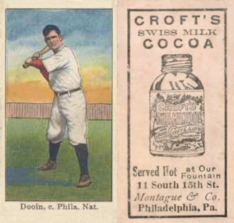 1909 Croft's Cocoa Red Dooin #17 Baseball Card