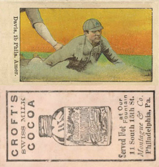 1909 Croft's Cocoa Harry Davis #14 Baseball Card
