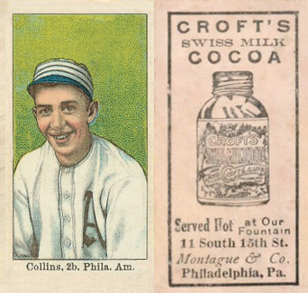 1909 Croft's Cocoa Eddie Collins #12 Baseball Card