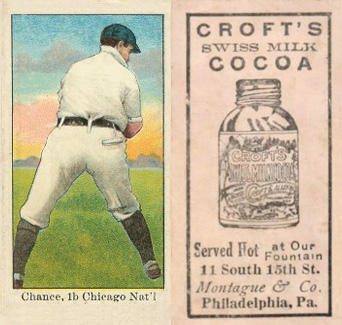 1909 Croft's Cocoa Frank Chance #9 Baseball Card