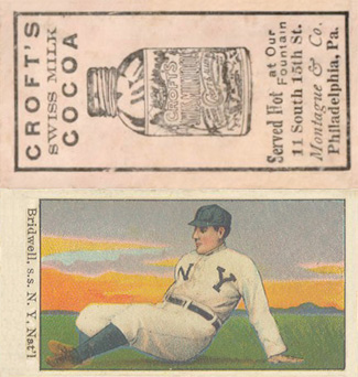 1909 Croft's Cocoa Al Bridwell #7 Baseball Card