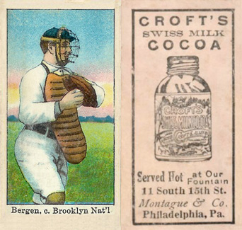 1909 Croft's Cocoa Bill Bergen #5 Baseball Card
