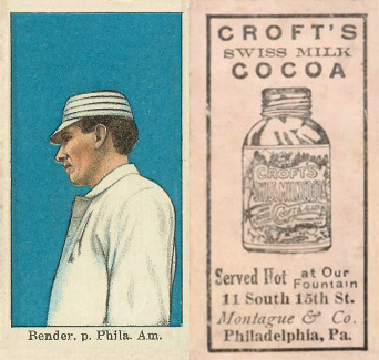 1909 Croft's Cocoa Chief Bender #4 Baseball Card