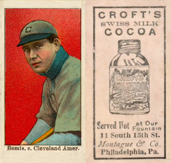 1909 Croft's Cocoa Harry Bemis #2 Baseball Card
