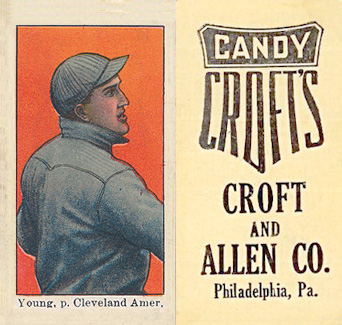 1909 Croft's Candy Cy Young #49 Baseball Card
