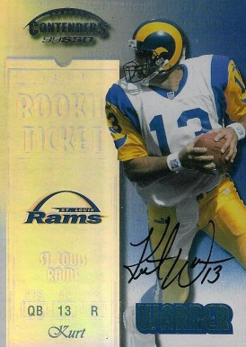 1999 Playoff Contenders Kurt Warner #146 Football Card