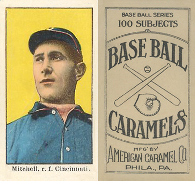 1909 American Caramel Mike Mitchell #81 Baseball Card