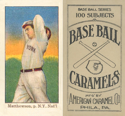 1909 American Caramel Christy Mathewson #74 Baseball Card