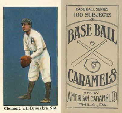 1909 American Caramel Wally Clement #24 Baseball Card