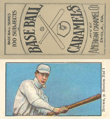 1909 American Caramel Buster Brown #15 Baseball Card