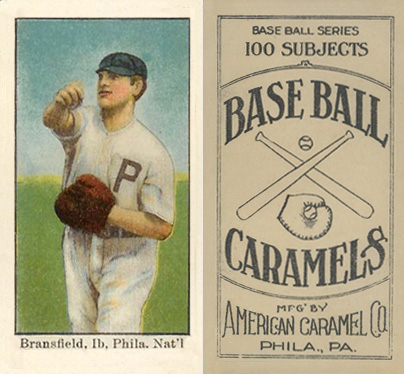 1909 American Caramel Kitty Bransfield #11 Baseball Card