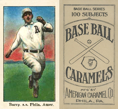1909 American Caramel Jack Barry #3 Baseball Card