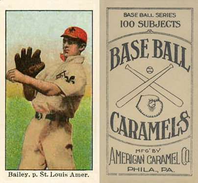 1909 American Caramel Bill Bailey #1 Baseball Card