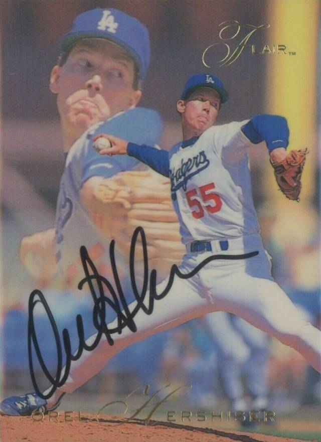 1993 Flair Orel Hershiser #70 Baseball Card