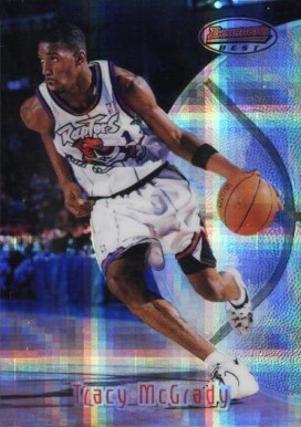 1997 Bowman's Best Atomic Refractor Tracy  McGrady #111 Basketball Card