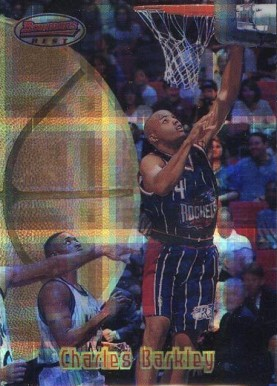 1997 Bowman's Best Atomic Refractor Charles  Barkley #65 Basketball Card