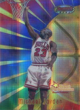 1997 Bowman's Best Atomic Refractor Michael  Jordan #96 Basketball Card