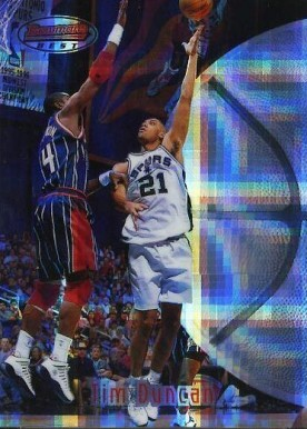 1997 Bowman's Best Atomic Refractor Tim Duncan #106 Basketball Card