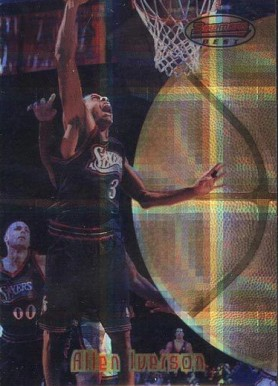 1997 Bowman's Best Atomic Refractor Allen Iverson #38 Basketball Card