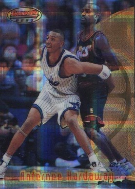 1997 Bowman's Best Atomic Refractor Anfernee Hardaway #69 Basketball Card