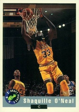 1992 Classic Draft Picks Shaquille  O'Neal  #1 Basketball Card
