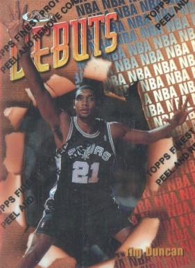 1997 Finest Refractors Tim  Duncan #101 Basketball Card