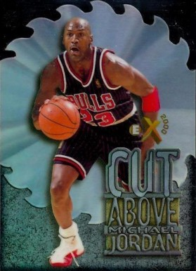 1996 Skybox E-X2000 A Cut Above Michael Jordan #5 Basketball Card