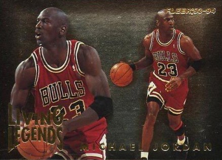 1993 Fleer Living Legends Michael Jordan #4 Basketball Card