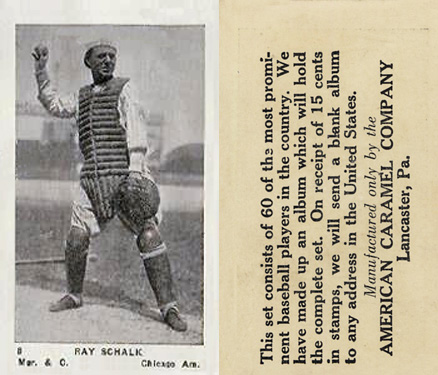 1927 American Caramel--Series of 60 Ray Schalk #8 Baseball Card