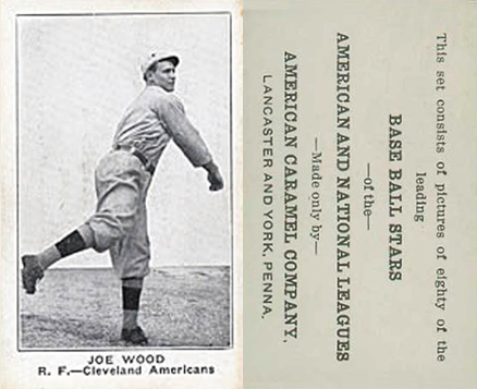 1921 American Caramel--Series of 80 Joe Wood #134 Baseball Card