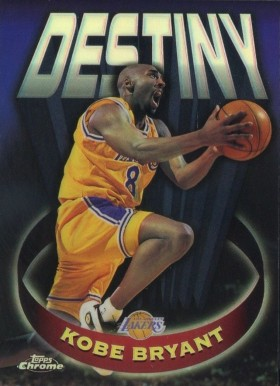 1997 Topps Chrome Destiny Refractor Kobe  Bryant #5 Basketball Card