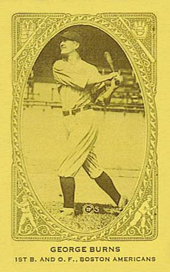 1922 American Caramel--Series of 240 George H. Burns #19 Baseball Card
