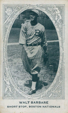 1922 American Caramel--Series of 240 Walt Barbare #8 Baseball Card