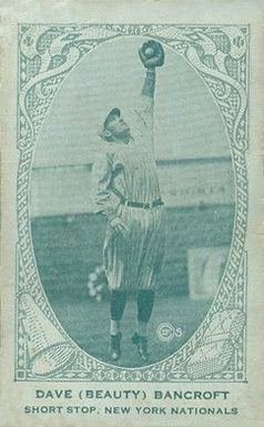 1922 American Caramel--Series of 240 Dave Bancroft #7 Baseball Card